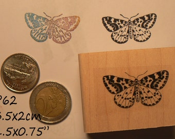 Moth, butterfly rubber stamp P60