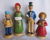 SALE Vintage 1950's Family Of Victorian, Dicken's Christmas Carolers, Japan Was 29.99 Now 19.99