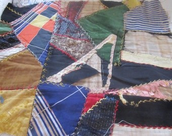 Antique Victorian Embroidered Velvet Crazy Quilt Block... Ready To Frame, Your Choice 1 of 3