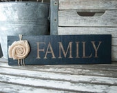 Wooden Family Sign (Serif Font)