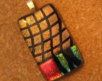 Dichroic Pendant Dichroic Jewelry Fused Glass Pendant Fused Glass Jewelry Glass Jewelry