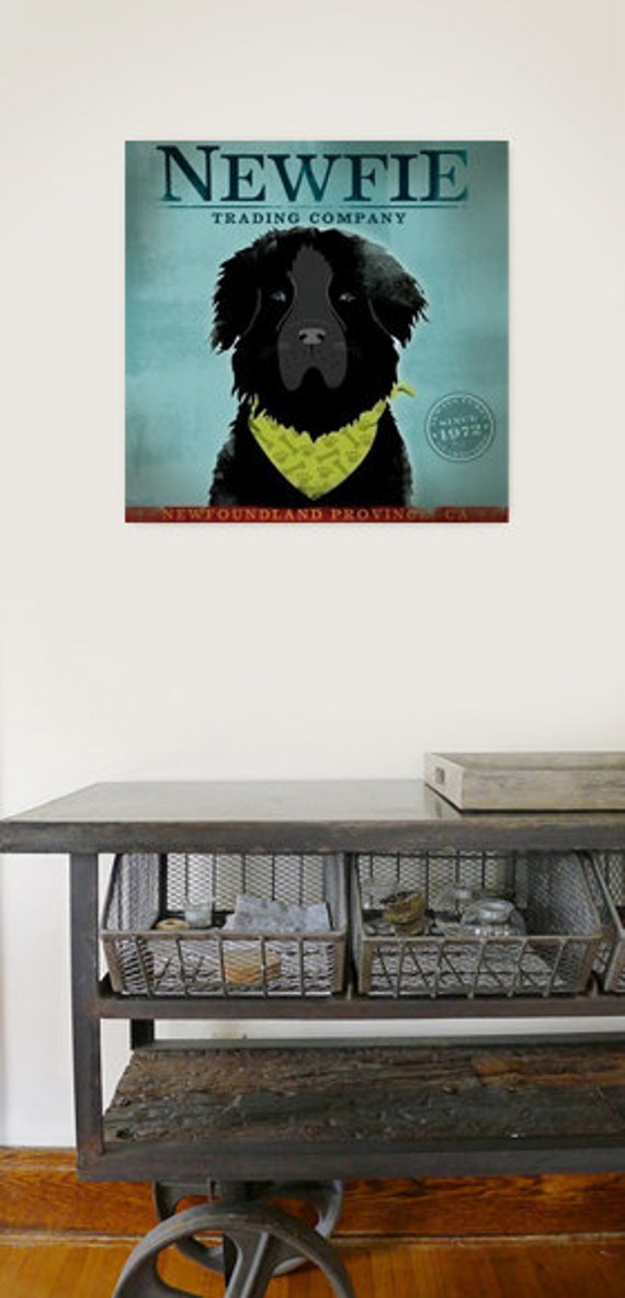 Newfoundland Trading Company NEWFIE graphic art on gallery wrapped canvas by stephen fowler