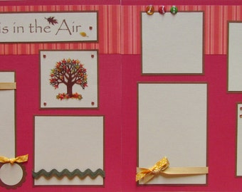 FALL is in the AIR 12x12 premade scrapbook pages AuTuMn -- Jumping in Leaves