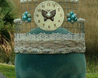 The Queen of Time Management Upcycled Steampunk Assemblage Crown