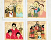 Illustration, Royal Tenenbaums, Art, Film Geek, Wes Anderson movies, Movie wall decor, Royal Tenenbaums quotes, Drawings, on fine art paper