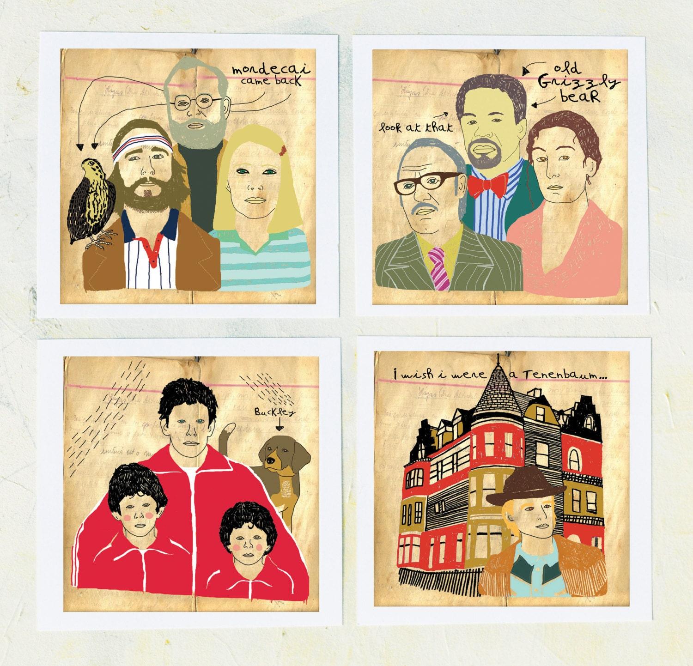 Illustration Royal Tenenbaums Art Film Geek Wes by retrowhale