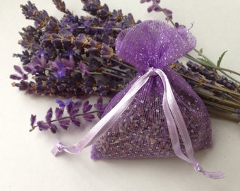 Organic Lavender Sachet with Silver Sparkles