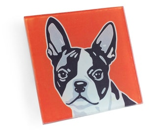 Set of 4 Boston Terrier Coasters