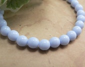 Alice Blue Czech Glass Beads Round Druk Opaque 6mm (25)
