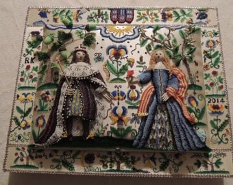 Custom Hand Sculpted King & Queen SET for Stumpwork Embroidery