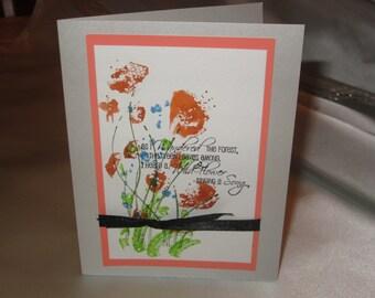 Watercolor Flower in Orange Colors