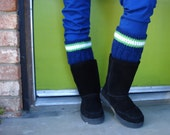 Seattle Seahawks Team Colors Boot Cuffs Leg Warmers