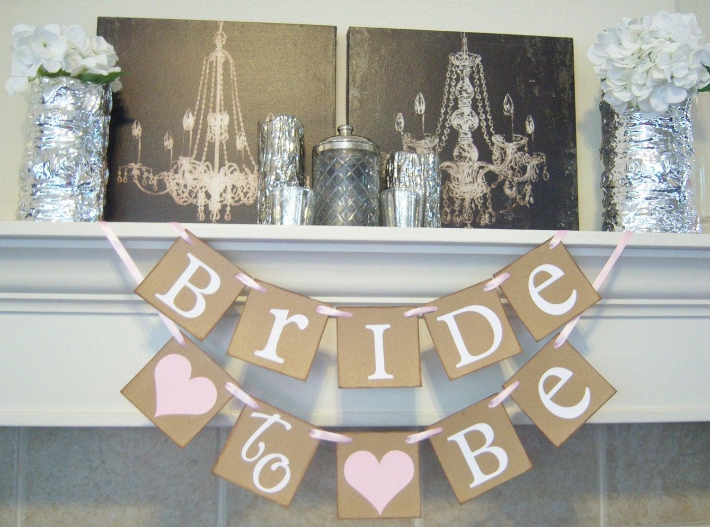 Bridal Shower Bannerbachelorette Bridal Shower Decor Bride