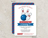 Bowling Birthday Party Invitations