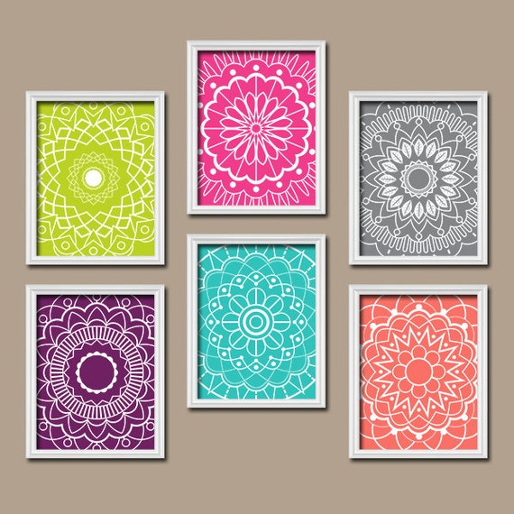 Colorful wall art medallion wall art bedroom pictures for Wall art templates free