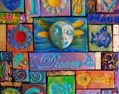 DREAM box, polymer clay mosaic assemblage