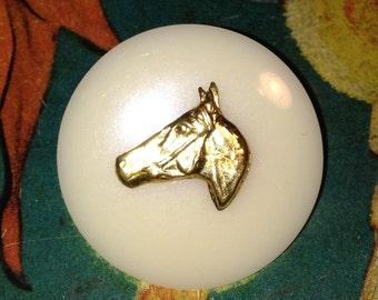 "Vintage Horse Head Button 1 1/8"""