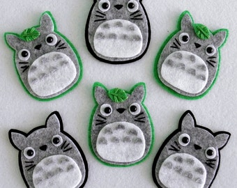 Totoro Hair Clip or Brooch - You Choose Style