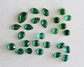 Vintage lot of mixed green cabochons (26)