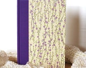 Journal Blank or Lined Journal Purple Silver Cherry Branch - Diary, Notebook, Sketchbook, Travel Journal, Bridesmaid Gift