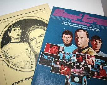 Vintage 1970s Star Trek Collectible Magazines or Books