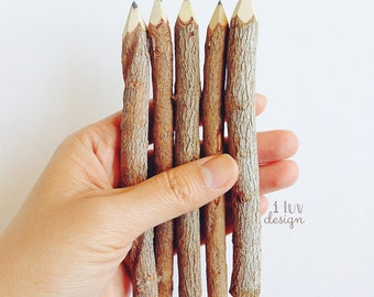 """Twig Pencils (5"""" Twig Pencils Bundle) 10 Twig Pencils • Rustic Twig Pencils"""