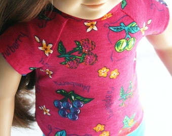 American Girl Doll Clothes - Summer Fruit Tee