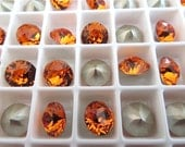 12 Tangerine Foiled Swarovski Crystal Chaton Stone 1088 39ss 8mm