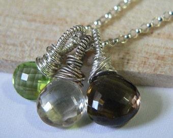 Gemstone Bundle - Peridot, Champagne quartz, Smoky Quartz