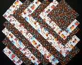 TRUCKS and TOOLS 100% cotton prewashed 5 inch Quilt Block Fabric Squares (E/105B)