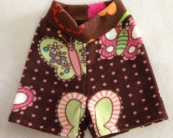 Size Medium --- Butterfly Anti Pill Fleece Shorties for Baby (((ready to ship)))