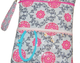 Needlework Cross Stitch, Sewing, Embroidery Project Organizer Bags PDF Pattern, 3 Sizes