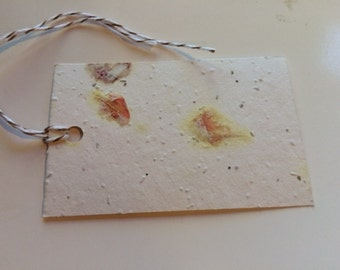 Plantable Wedding Place Cards Plantable Seed Tags Recylced Paper with Seeds and Petals Gift Tags Wedding Favors