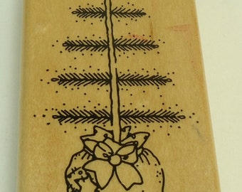 Oh Christmas Tree Christmas Wood Mounted Rubber Stamp By JRL Designs 1116 Holiday