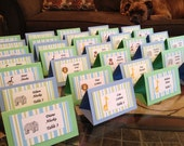 RESERVED Baby Shower, Shower Labels, Place cards, Placecards