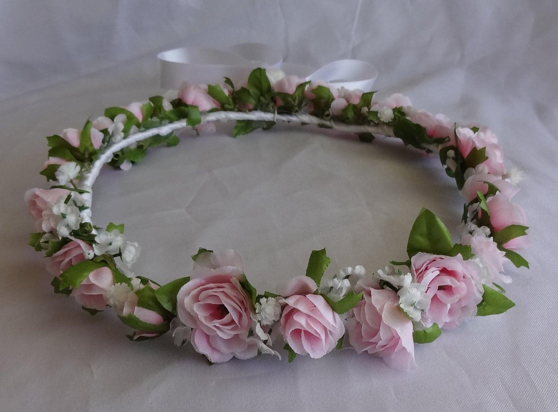 Bridal Flower Wreath For Hair : Bridal hair wreath flower crown girl by lovelygifts
