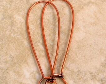 Long Kidney Ear Wire, Antique Copper, Trinity Brass, 12 Pc. AC151