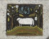 1863 Sheep ~ PAPER Rug Hooking PATTERN from - Notforgotten Farm