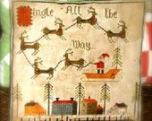 Jingle all the Way - PAPER PATTERN - cross stitch pattern - from Notforgotten Farm