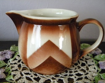 Small Vintage Art Deco Milk Pitcher with Air Brush Design