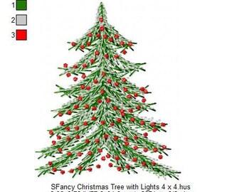 SFancy Christmas Tree with Lights 4 x 4