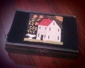 Farmhouse Punchneedle on Wood Box
