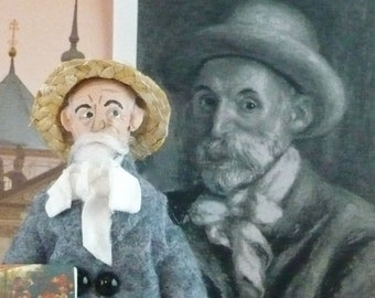Pierre Renoir Doll Miniature Artist Historical Character