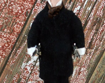 Wyatt Earp Wild West Art Doll Miniature Collectible