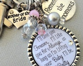 Mother of bride gift, MOTHER of GROOM gift- PERSONALIZED keychain birthdaygift, I'lllove you forever,like you for always, thank you gift