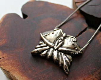butterfly goddess silver spirit necklace