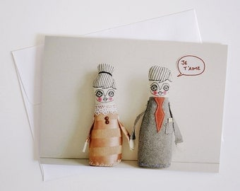 Je t aime - Greeting Card - Doll photography