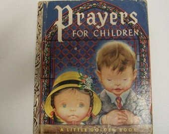Classic book  Prayers for Children Original 1952 edition Little Golden Book