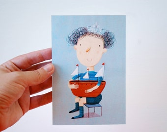 young sailor  postcard
