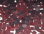 100 1/2 Inch Sienna Red Tumbled Stained Glass Mosaic Tiles